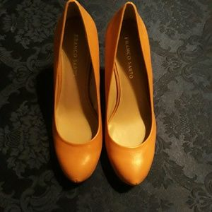 Women's Franco Sarto Size 9 Stacked Wooden Heels